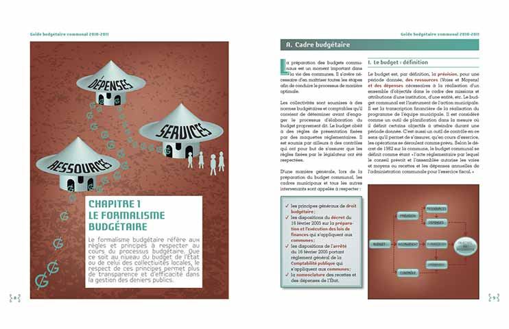 Guide budgétaire communal 2011-2012, pages d'exemple